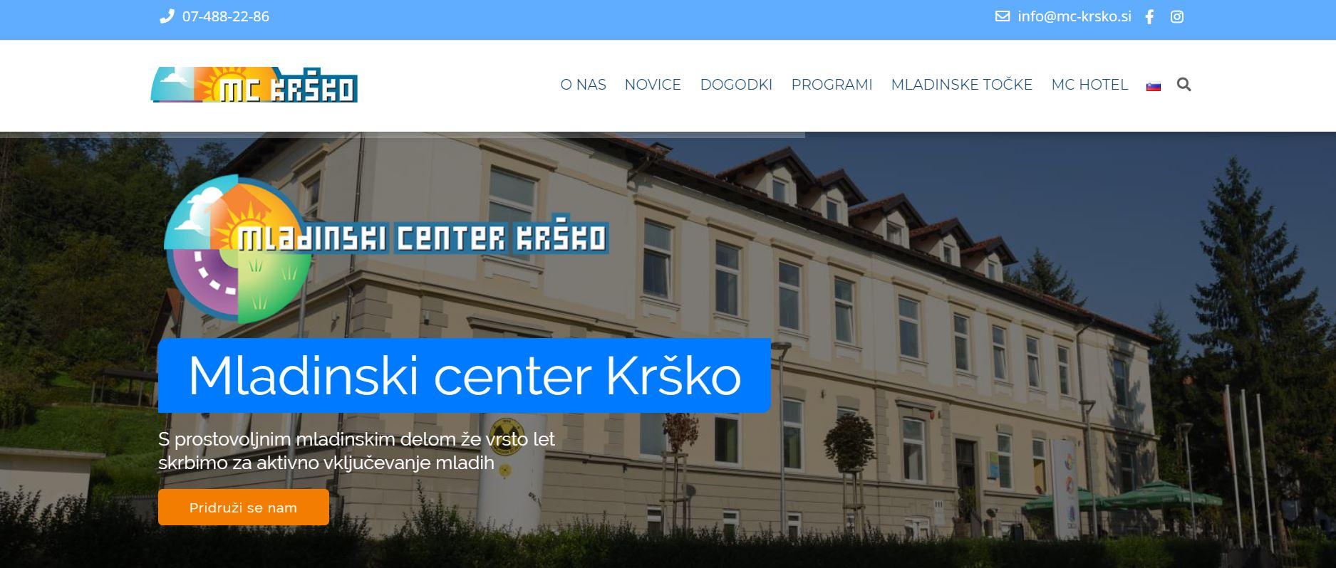Mladinski center Krško<div style='clear:both;width:100%;height:0px;'></div><span class='cat'>SPLETNA STRAN</span>